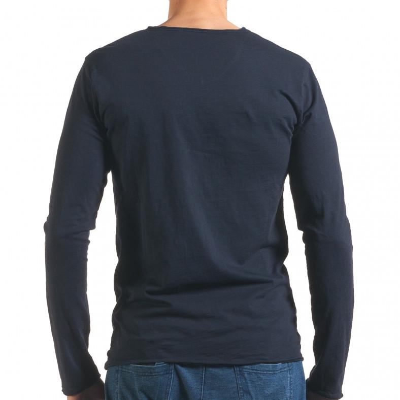 Мъжка синя блуза с дълъг ръкав Man 4