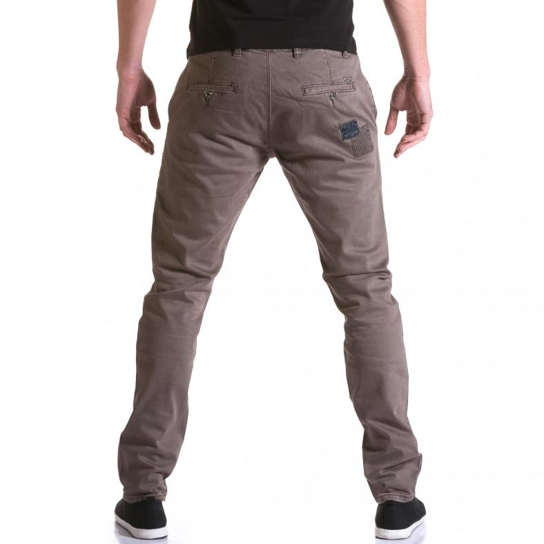 Мъжки кафяв панталон с декоративни кръпки Y-Two 5