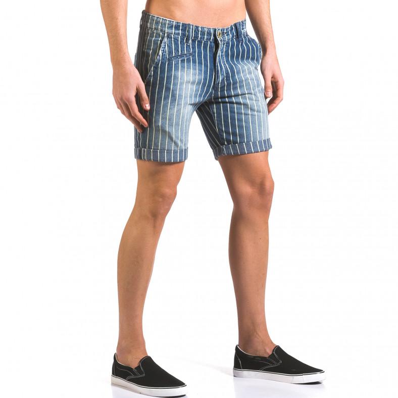 Мъжки къси дънки раирани Y-Two 5