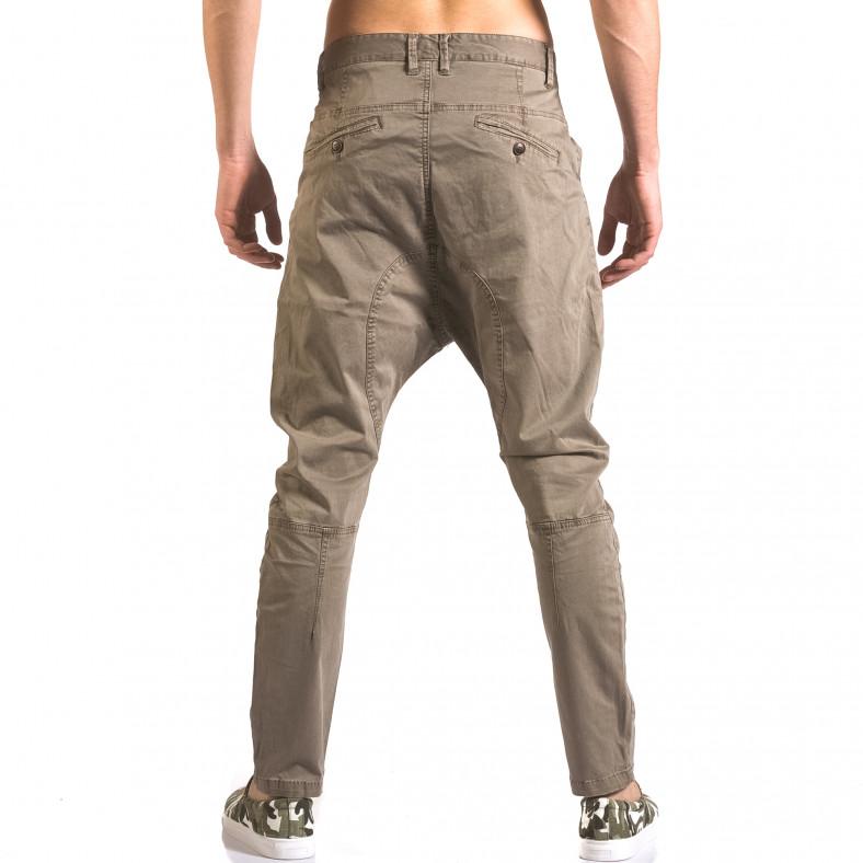 Мъжки сив панталон със смъкнато дъно и цип X-Feel 5