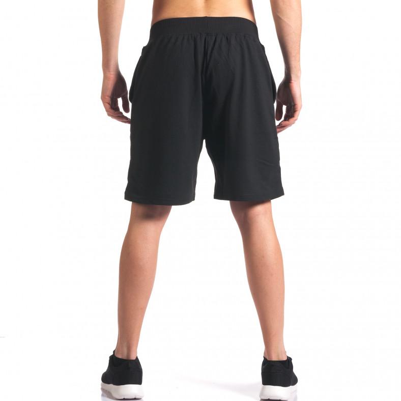 Черни мъжки шорти за спорт с надпис US NY Y Chromosome 4