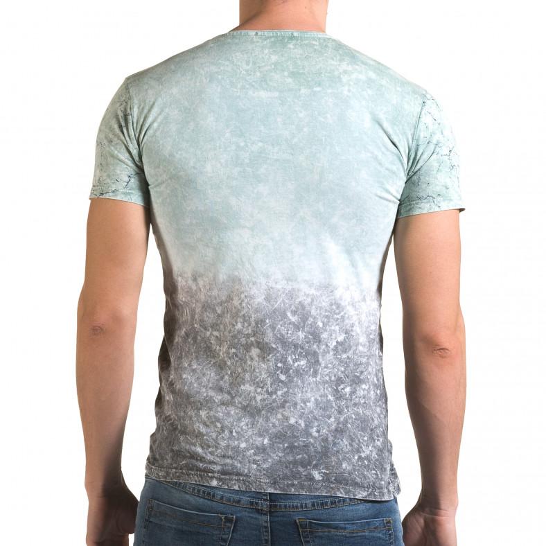 Мъжка зелено-сива тениска 58 Wanted Lagos 4
