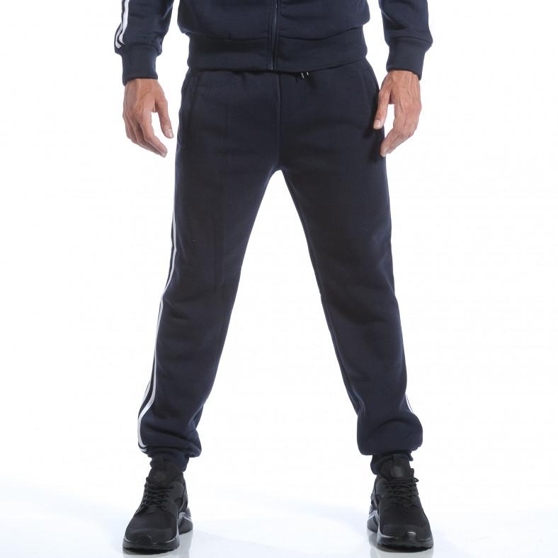 Мъжки син спортен комплект с бели ленти Eadae Wear 6