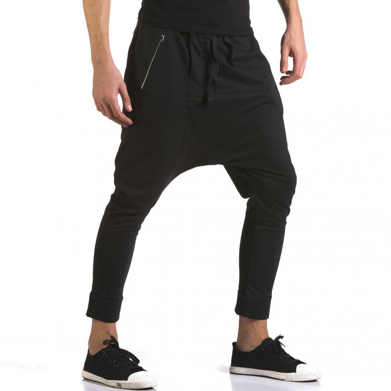 Мъжки черни потури с много смъкнато дъно и ципове Dress&GO 5