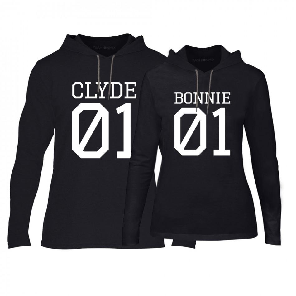 Суичъри за двойки Bonnie 01 & Clyde 01 в черно TMN-CPS-025