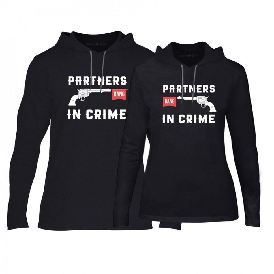 Суичъри за двойки Partners in Crime в черно TMN-CPS-081