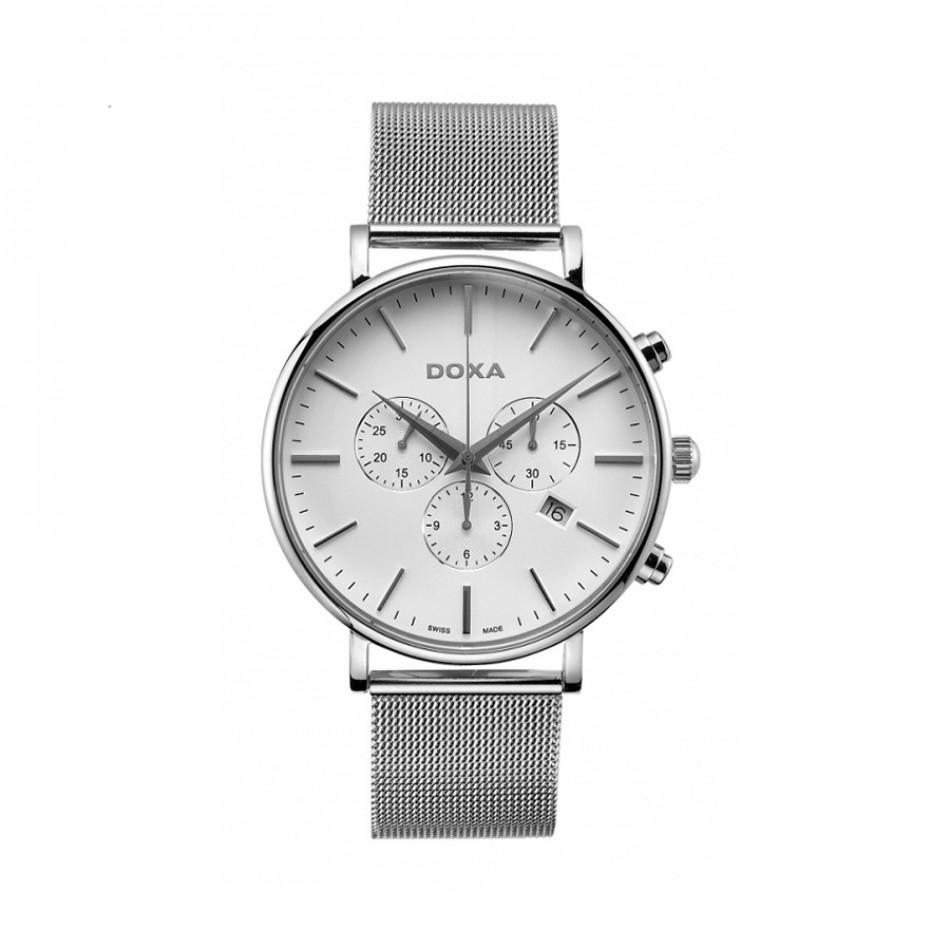 Мъжки часовник DOXA D-Light сребрист кварцов хронограф 1721001110