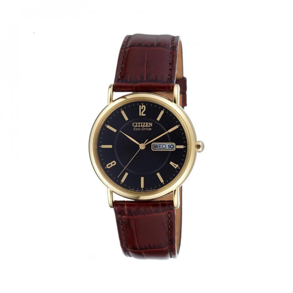 Мъжки часовник Citizen с кафява каишка от естествена кожа BM8243 05E