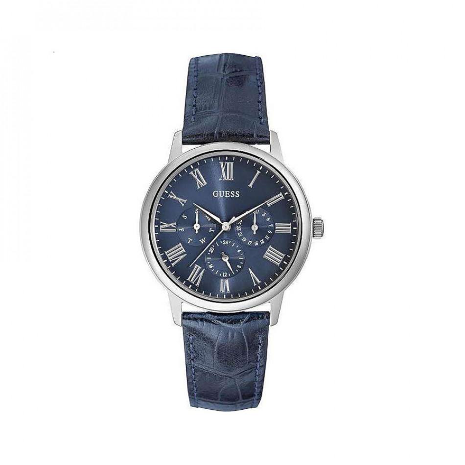 Мъжки часовник Guess със синя релефна каишка W0496G3