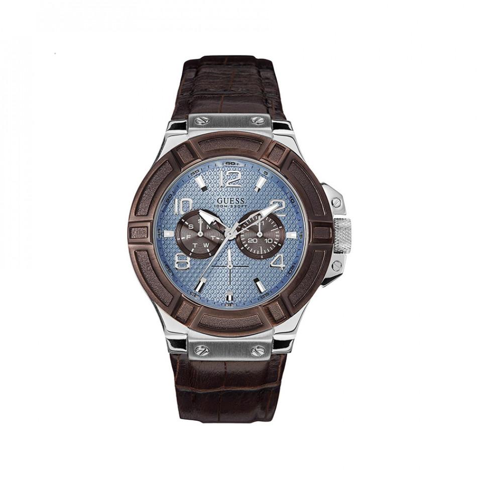 Мъжки часовник Guess  с допълнителен кафяв ринг на касата W0040G10