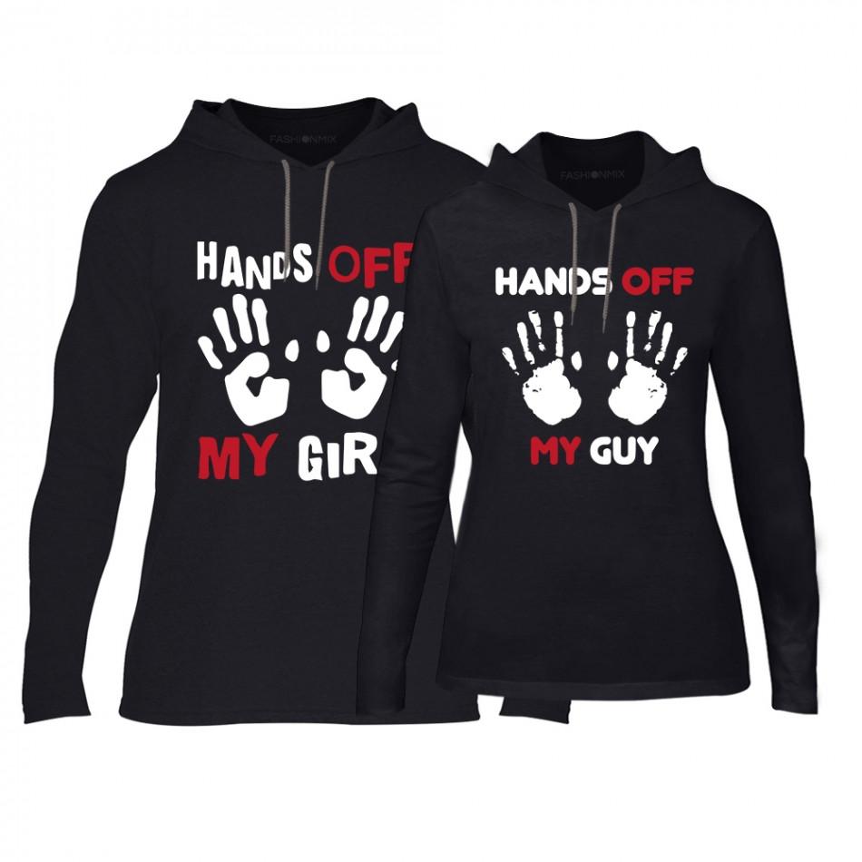 Суичъри за двойки Hands Off в черно TMN-CPS-148