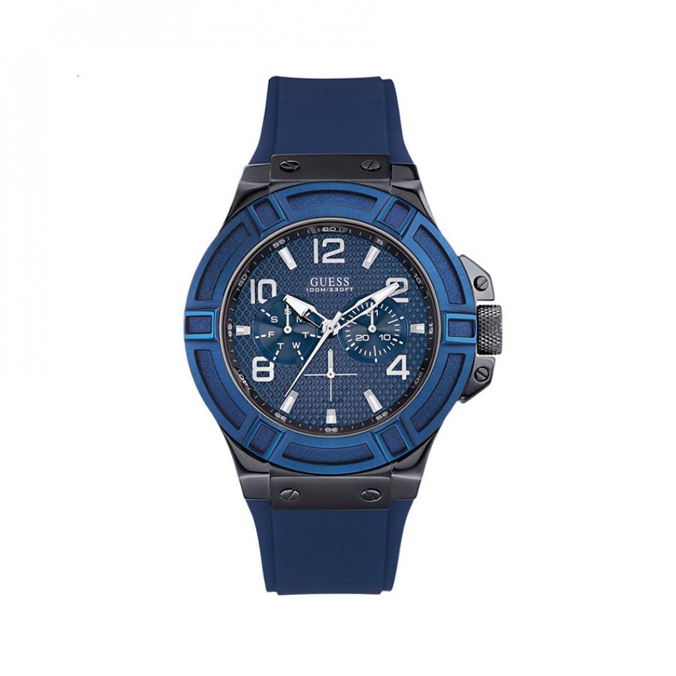 Мъжки часовник Guess  със синя каучукова каишка W0248G5