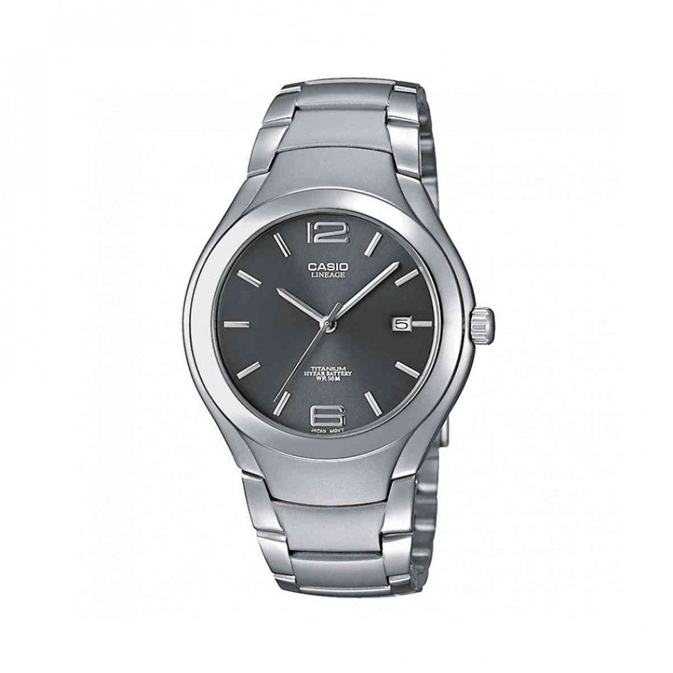 Мъжки часовник Casio Lineage сив с титаниев корпус и черен циферблат LIN1698AVEF