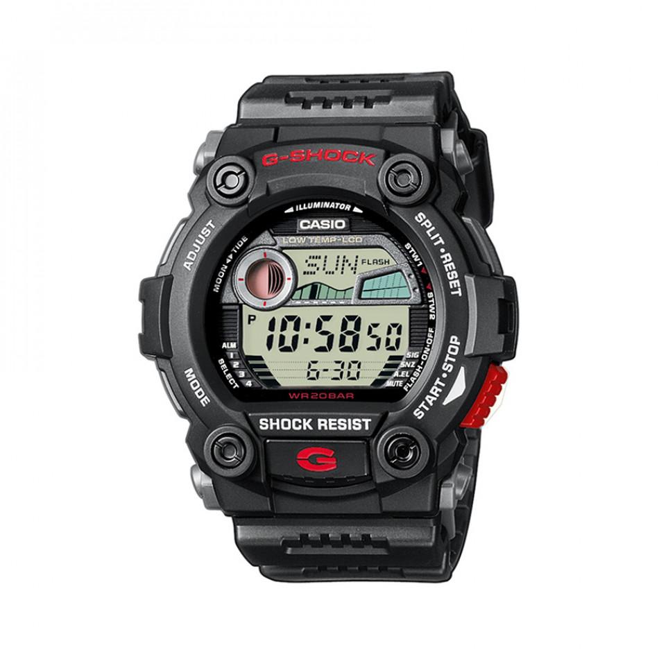 Мъжки спортен часовник Casio G-SHOCK черен с червен start-stop бутон G79001ER