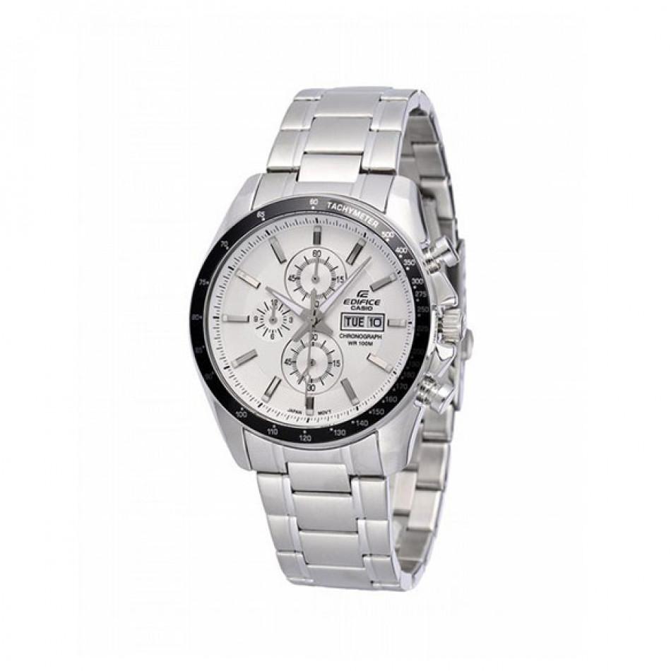 Мъжки часовник Casio Edifice сребрист браслет с фосфориращи индекси EFR502D7AVEF