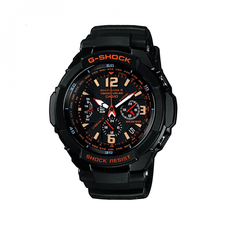 Мъжки спортен часовник Casio G-SHOCK черен с жълти цифри GW3000B1AER