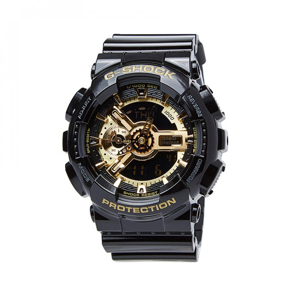 Мъжки спортен часовник Casio G-SHOCK черен със златист циферблат GA110GB1AER