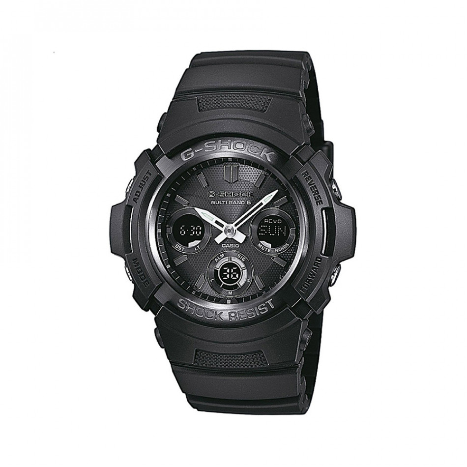 Мъжки спортен часовник Casio G-SHOCK черен с радио сверяване AWGM100B1AER