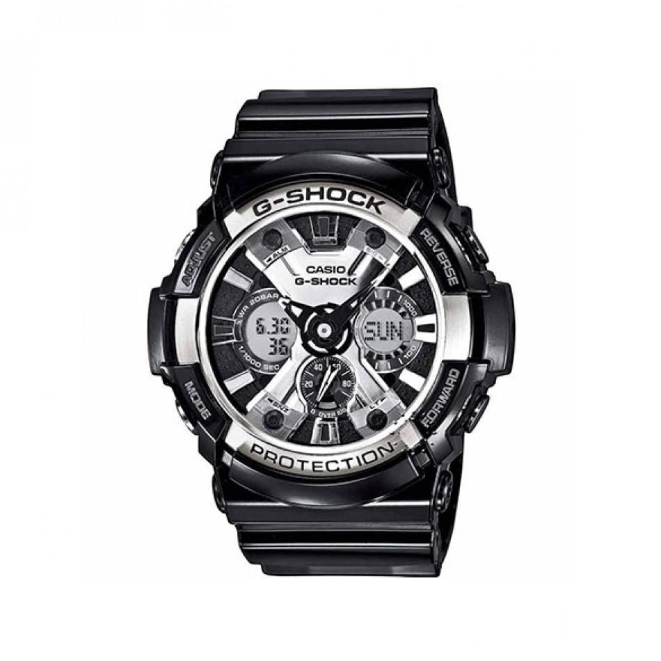 Мъжки спортен часовник Casio G-SHOCK със сребристи детайли по циферблата GA2001AER