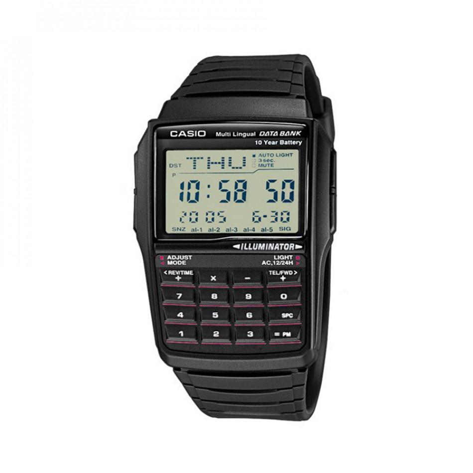 Мъжки часовник Casio Collection черен с дигитален калкулатор DBC321AES