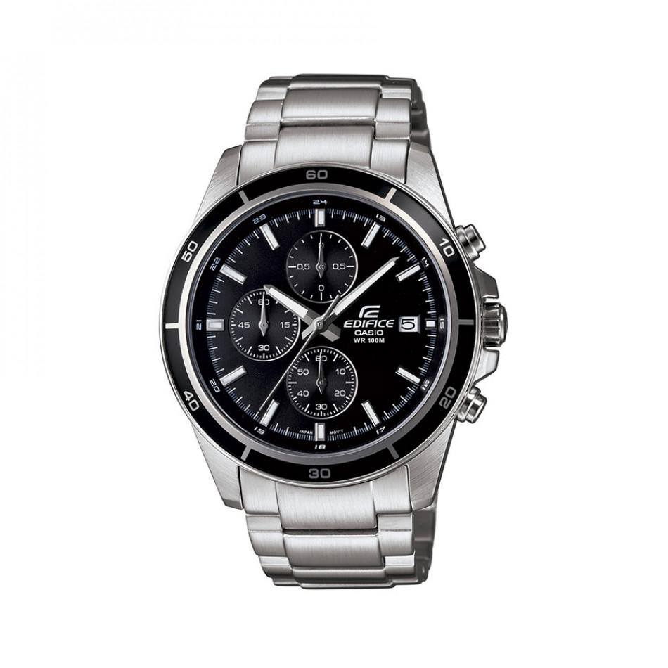 Мъжки часовник Casio Edifice сребрист браслет с завиващ се заден капак EFR526D1AVUEF