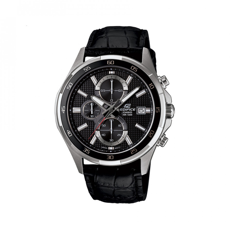Мъжки часовник Casio Edifice с черна каишка и черен дисплей EFR531L1AVUEF