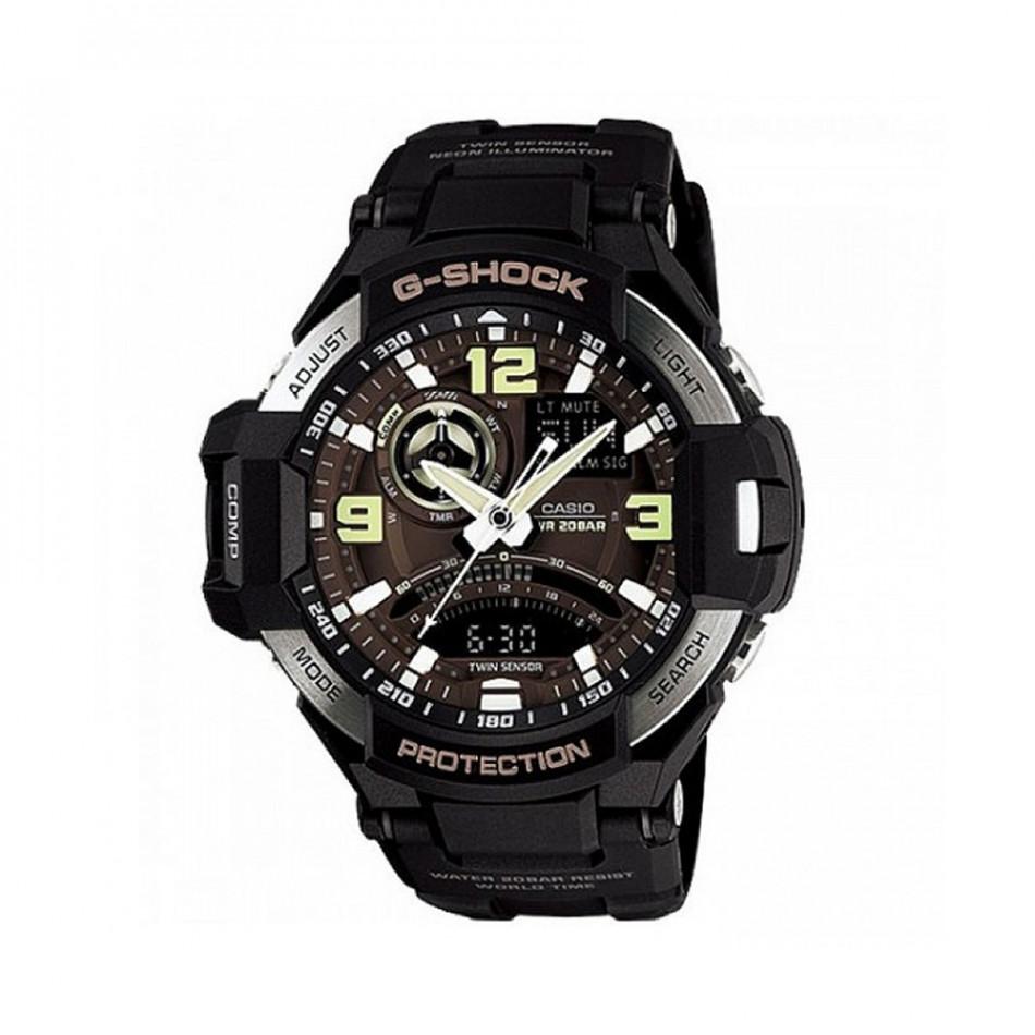 Мъжки спортен часовник Casio G-SHOCK черен с неонови цифри GA10001BER