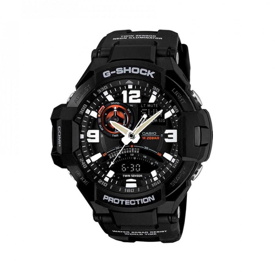Мъжки спортен часовник Casio G-SHOCK черен с бели цифри GA10001AER
