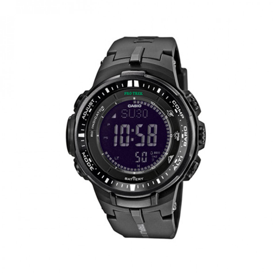 Мъжки часовник Casio Pro Trek черен с автоматичен илюминатор PRW30001AER