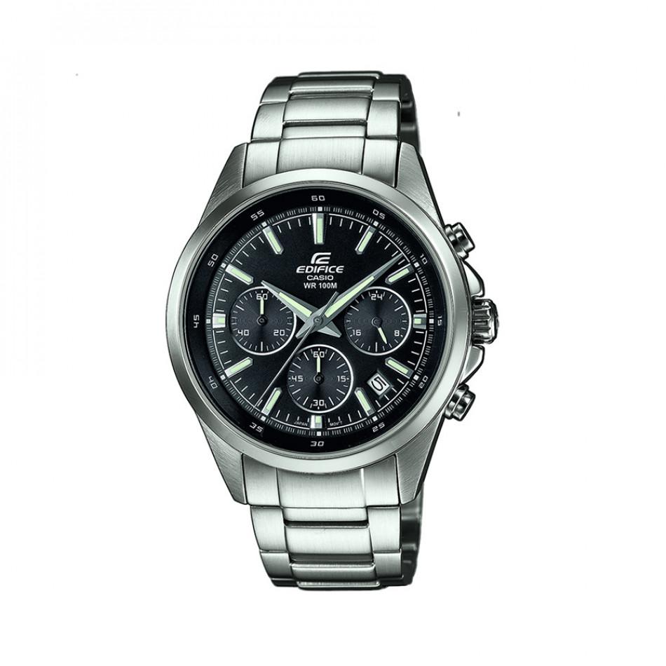 Мъжки часовник Casio Edifice сребрист браслет с показване на дата EFR527D1AVUEF