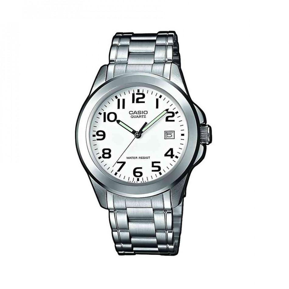 Мъжки часовник Casio Collection сребрист браслет със зелени стрелки MTP1259D7BEF