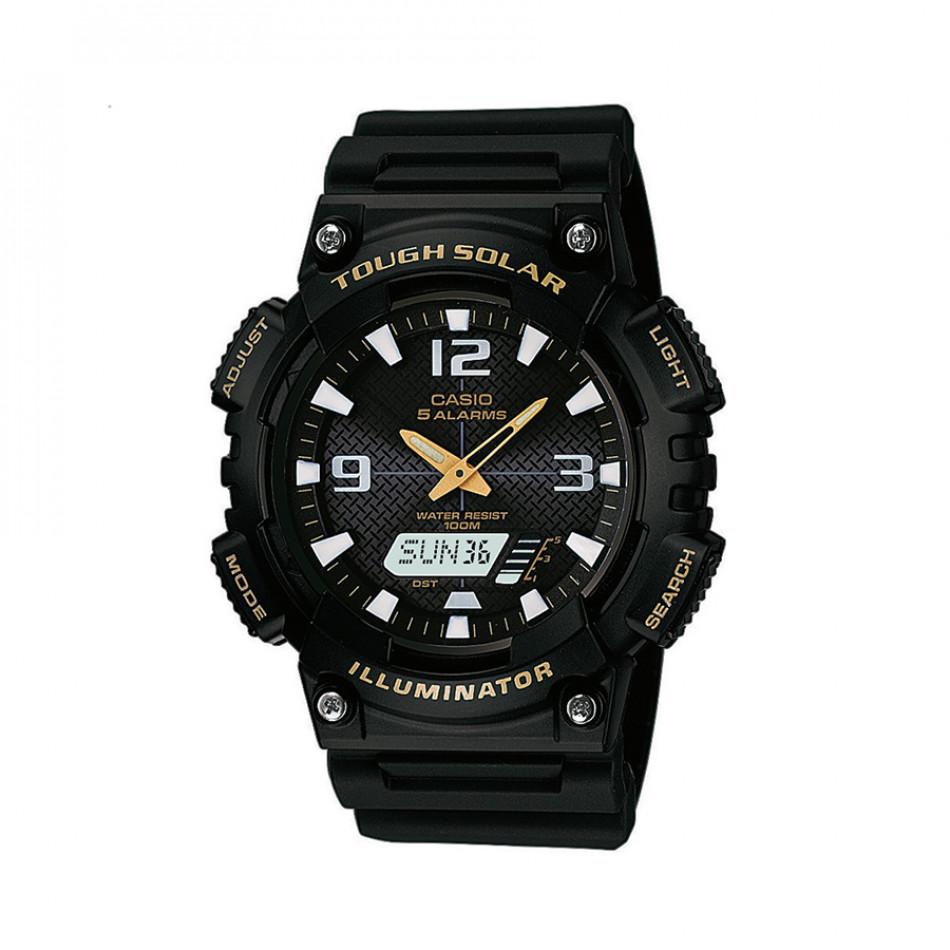 Мъжки часовник Casio Collection черен със соларно захранване AQS810W1BVEF