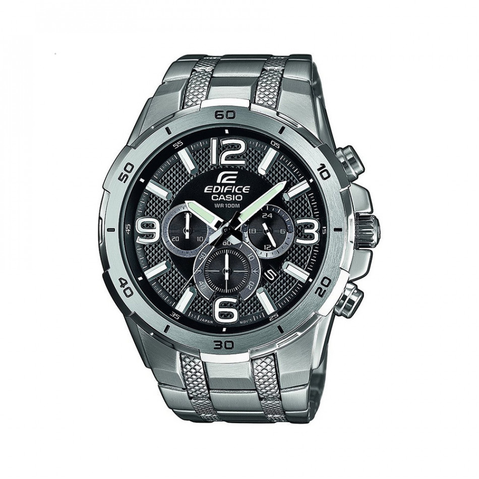 Мъжки часовник Casio Edifice сребрист браслет с бели индекси EFR538D1AVUEF