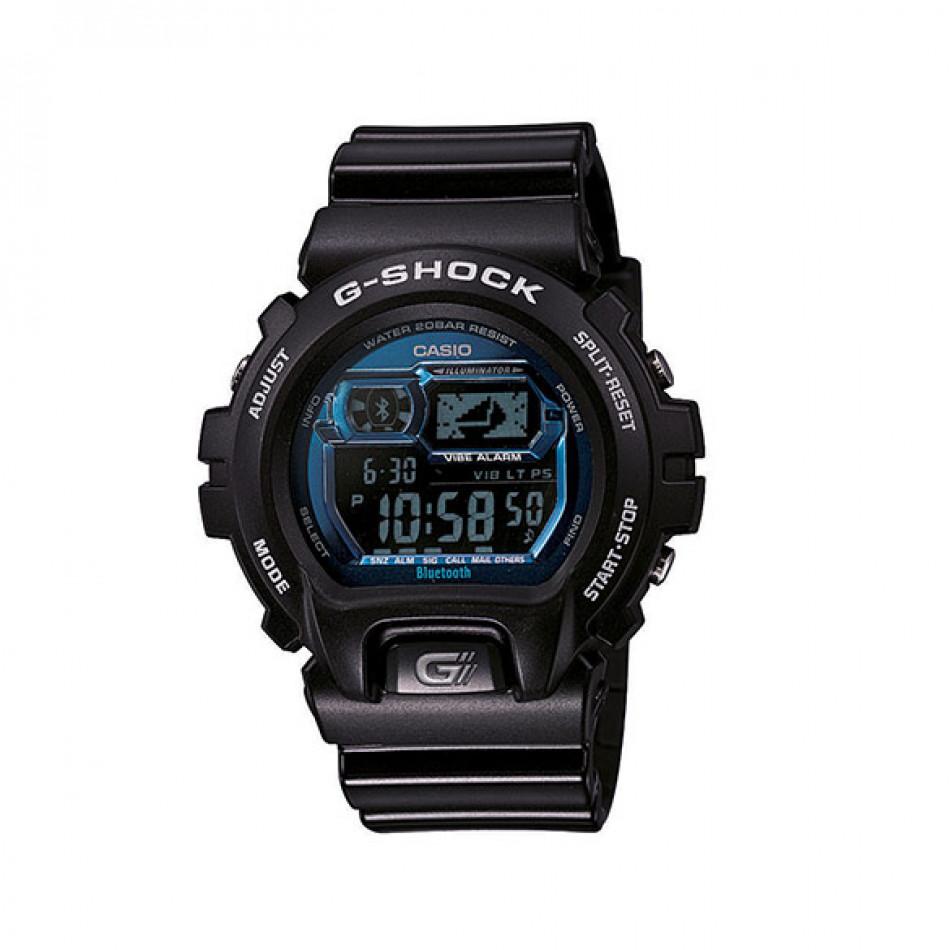 Мъжки спортен часовник Casio G-SHOCK черен със сини детайли по дисплея GB6900B1BER