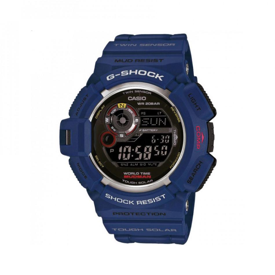 Мъжки спортен часовник Casio G-SHOCK син с черен дисплей G9300NV2ER