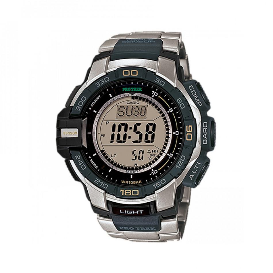 Мъжки часовник Casio Pro Trek сребристо-черен PRG270D7ER
