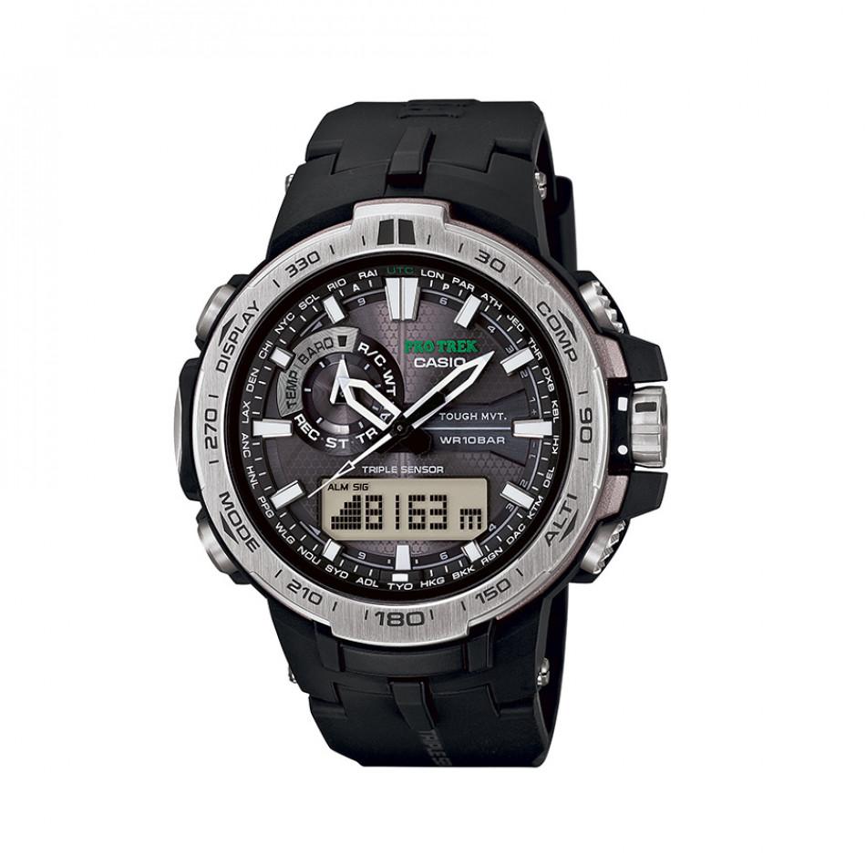 Мъжки часовник Casio Pro Trek с индикатор за нивото на батерията PRW60001ER