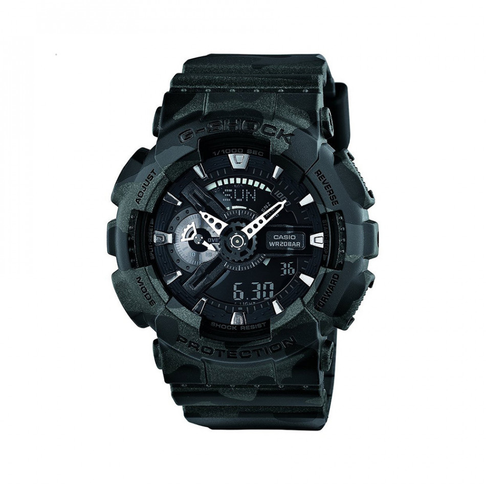 Мъжки спортен часовник Casio G-SHOCK черен камуфлаж GA110CM1AER