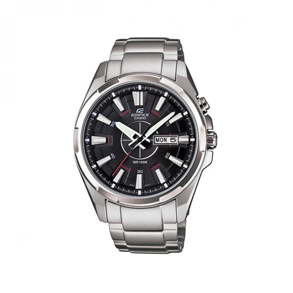 Мъжки часовник Casio Edifice сребрист с червена стрелка за отмерване на секундите EFR102D1AVEF