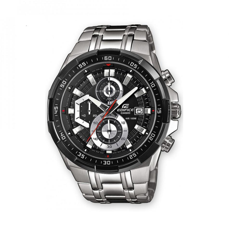 Мъжки часовник Casio Edifice сребрист браслет с метални стрелки EFR539D1AVUEF