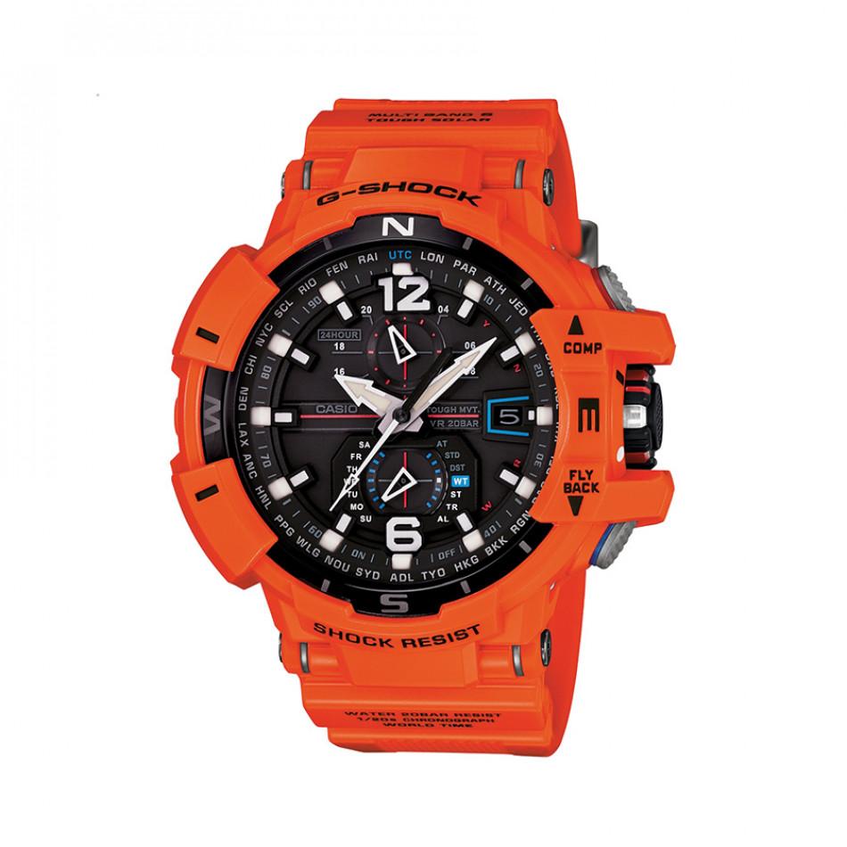 Мъжки спортен часовник Casio G-SHOCK оранжев с черен циферблат GWA1100R4AER