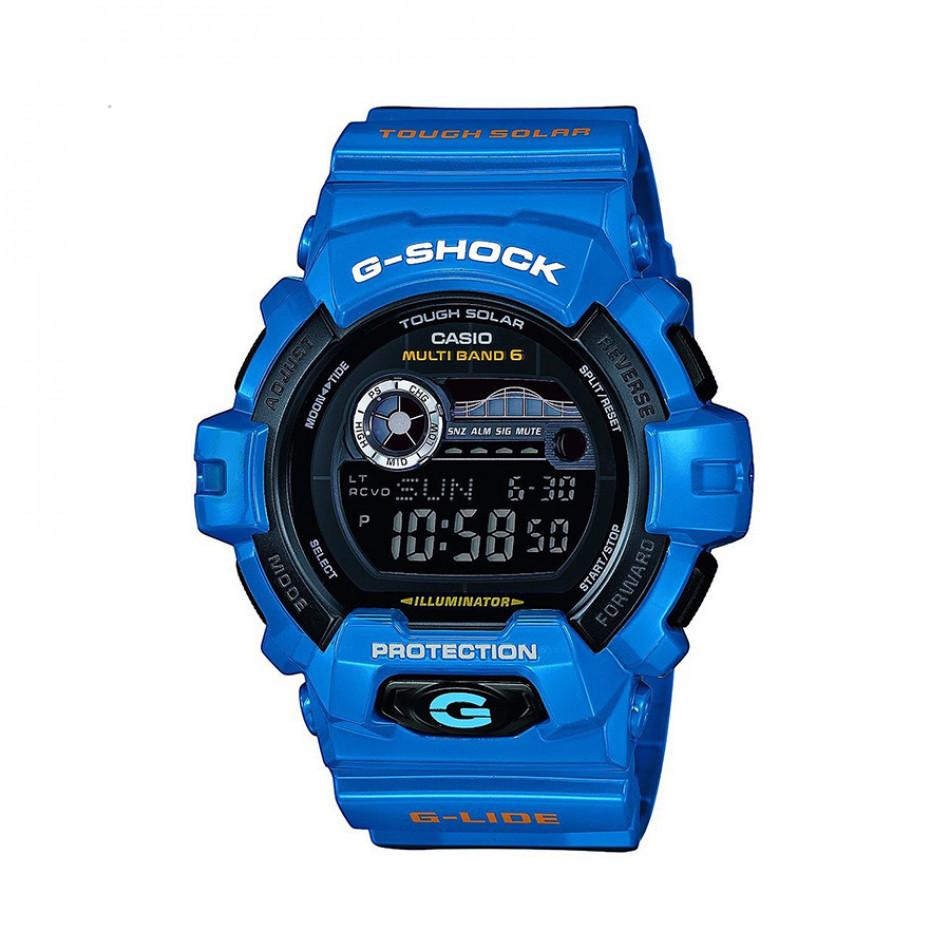 Мъжки спортен часовник Casio G-SHOCK  син с бял надпис GWX8900D2ER