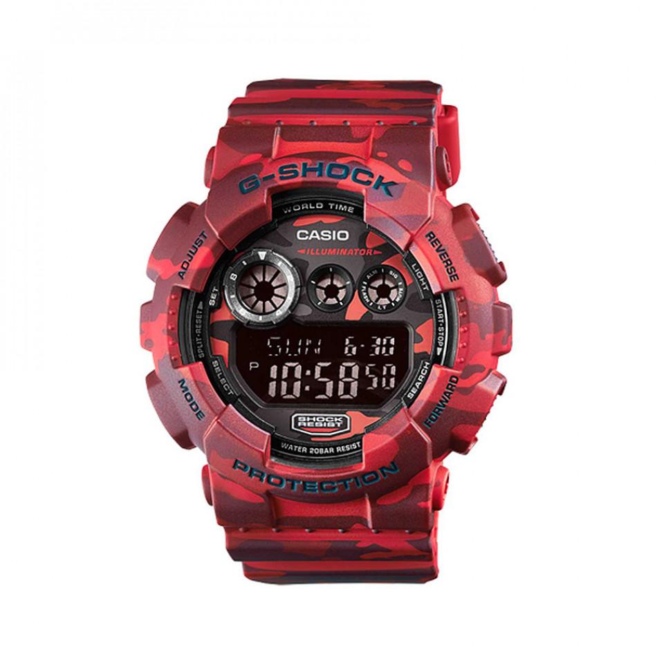 Мъжки спортен часовник Casio G-SHOCK червен камуфлаж GD120CM4ER