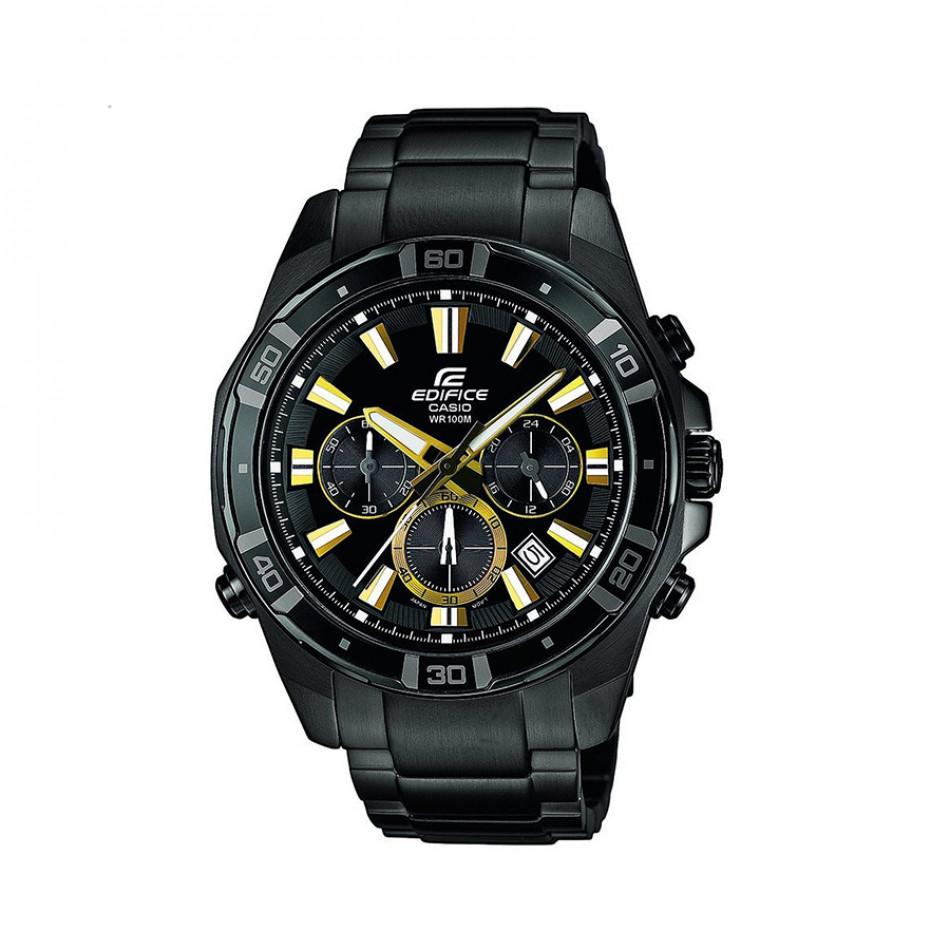 Мъжки часовник Casio Edifice с черен циферблат и черна каишка EFR534BK1AVEF