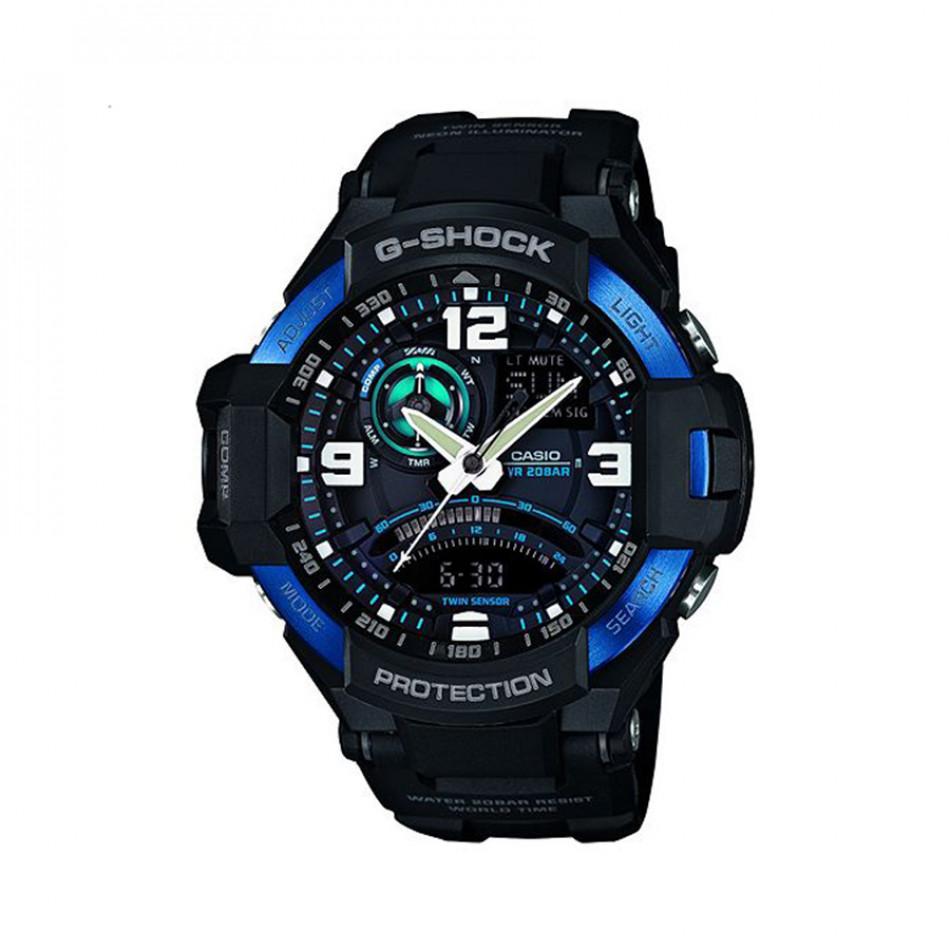 Мъжки спортен часовник Casio G-SHOCK черен с бели цифри GA10002BER
