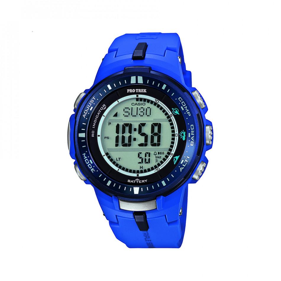 Мъжки часовник Casio Pro Trek син с радио сверяване PRW30002BER