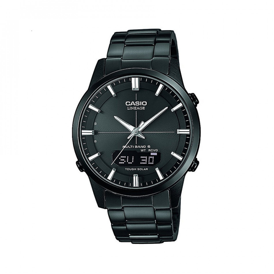 Мъжки часовник Casio Lineage черен с LED осветление на дисплея LCWM170DB1AER