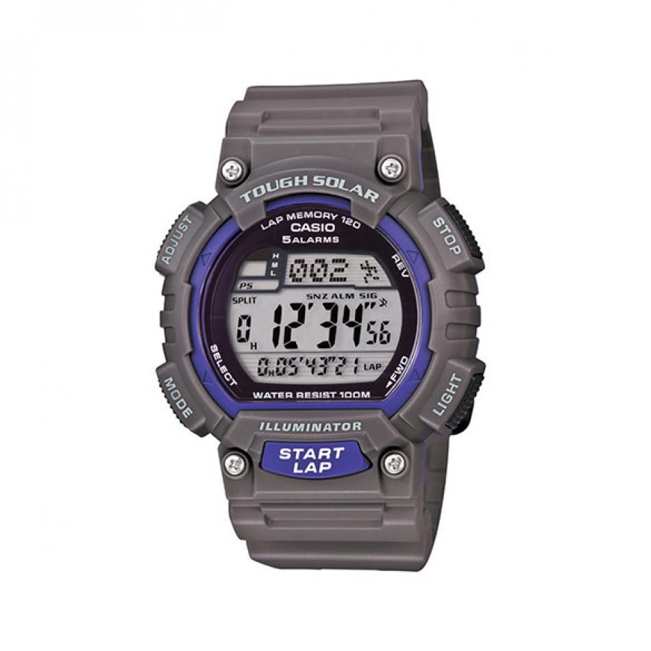 Мъжки часовник Casio Collection сив с лилави детайли STLS100H8AVEF