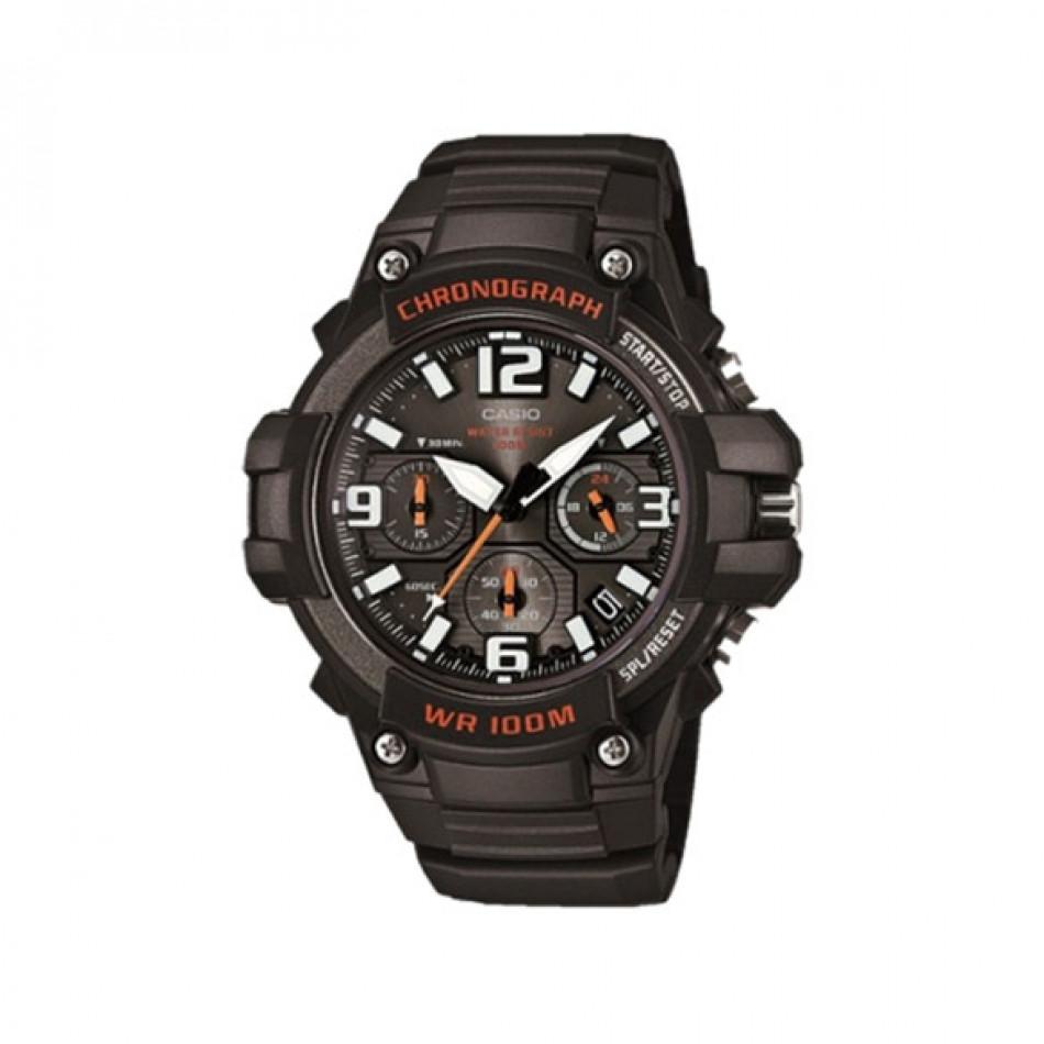 Мъжки часовник Casio Collection черен с бели индекси и стрелки MCW100H1AVEF