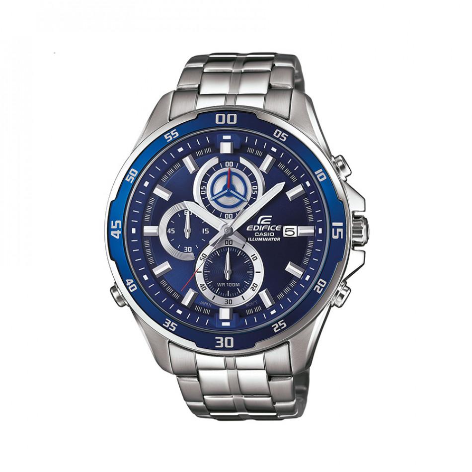 Мъжки часовник Casio Edifice сребрист браслет хронограф EFR547D2AVUEF